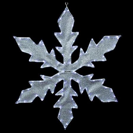 northlight seasonal lighted indooroutdoor tube light snowflake commercial christmas decoration - Indoor Christmas Decorations Walmart