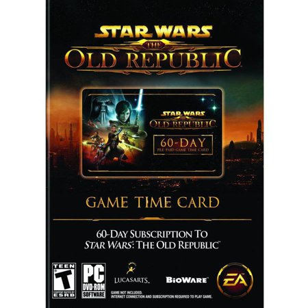 Star Wars The Old Republic Time Card  Pc  Mac