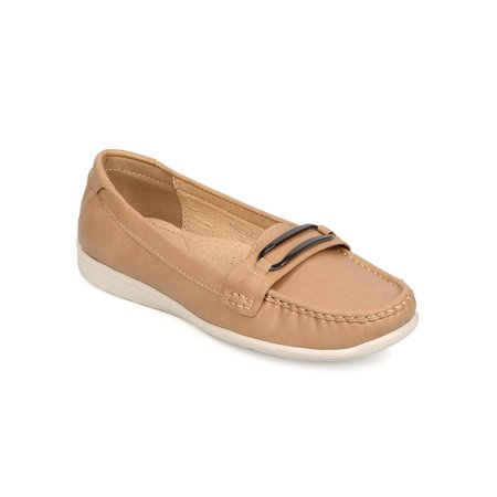 New Women Betani Noella-1 Leatherette Round Toe Slip On Penny Bar Loafer (Womens Penny Loafer)