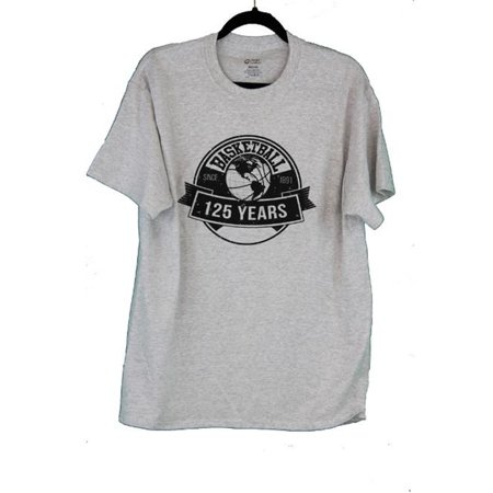NAME DAGTL 125 Years of Basketball Team T-Shirt, Ash Grey - Large
