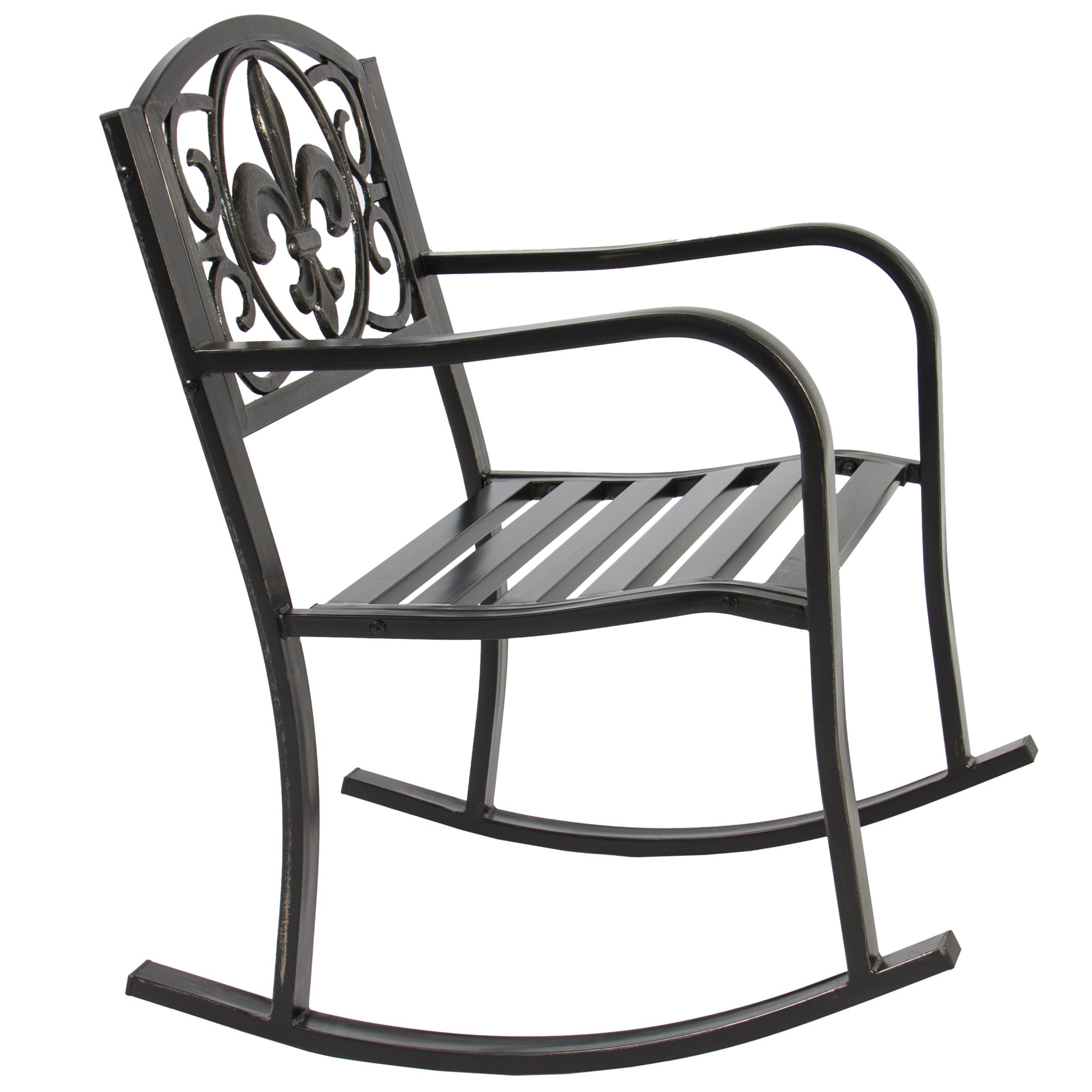 Best Choice Products Metal Rocking Chair Seat For Patio Porch Deck