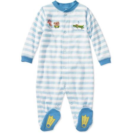 Child of Mine by Carter's - Newborn Boys' Stripe Sleep n' Play Bodysuit