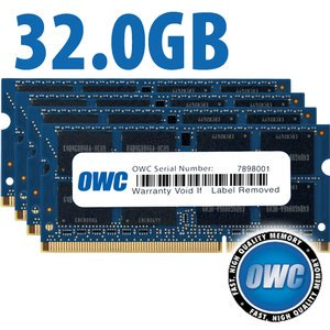 Ddr3 Core - OWC 32GB (4x8GB) DDR3 PC3-10600 1333MHz 204 Pin CL9 SO-DIMM Memory Upgrade for Mid 2010/2011 27 iMac Core i5 and Core i7 Mid 2011 21.5 iMac Model OWC1333DDR3S32S