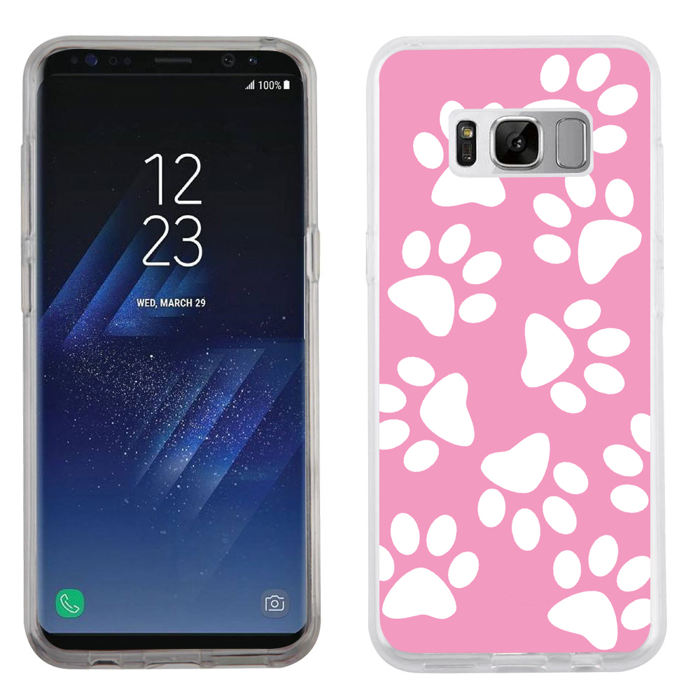 Fit Galaxy S8 PLUS, OneToughShield ® Slim-Fit Premium TPU Gel Phone Case for Samsung Galaxy S8+ / S8 PLUS - Pet Paw/ Pink