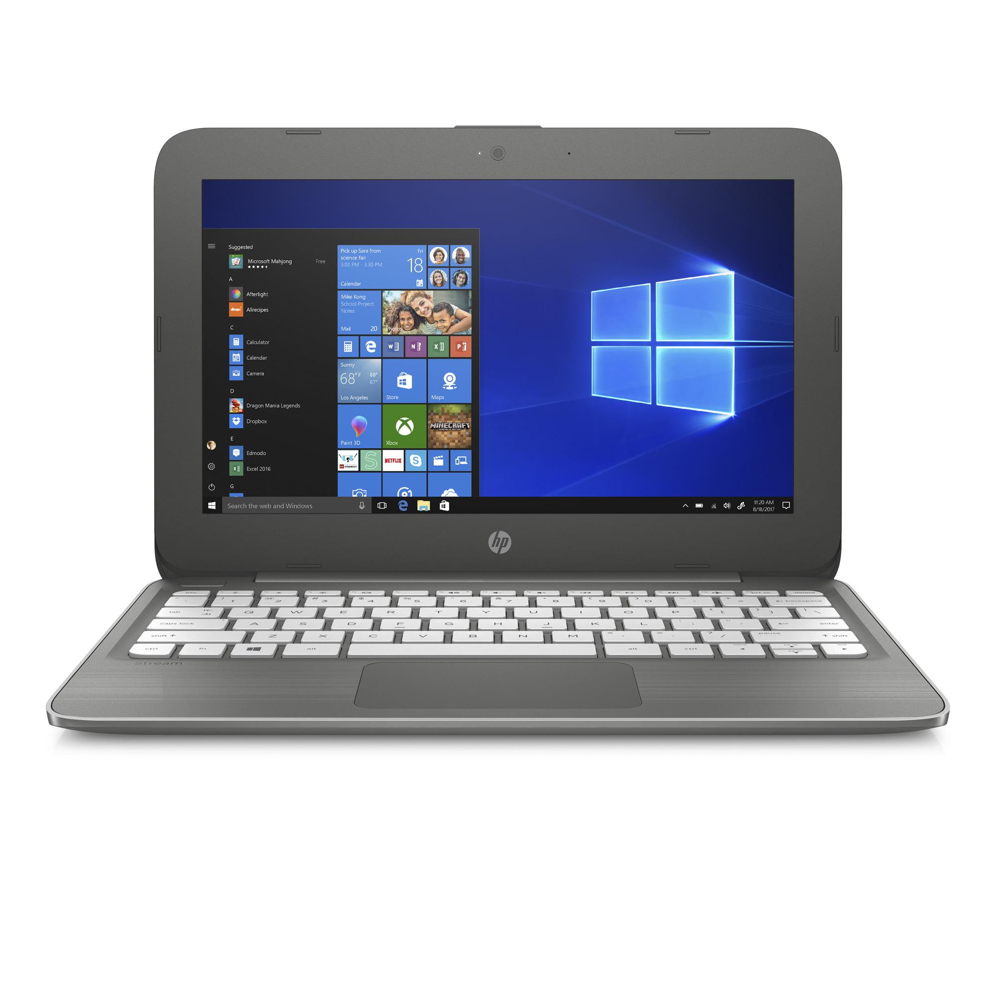 HP Stream Laptop 14-cb060nr, Celeron N3060, 4GB DDR3L, 64GB Emmc, Intel HD Graphics 400, Windows 10 Home in S mode, Smoke Gray