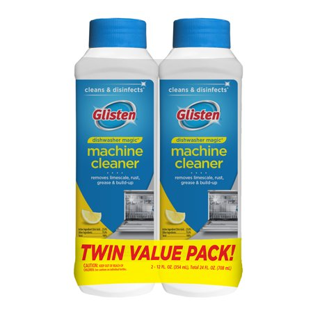 (2 Pack) Glisten Dishwasher Magic Machine Cleaner and Disinfectant, Lemon, 12 Fl Oz (Dishwasher Tabs Natural)