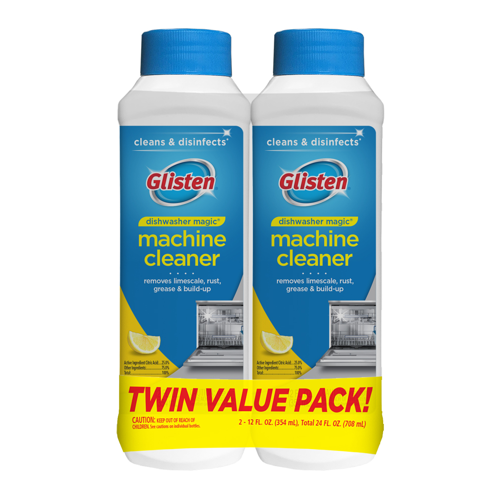 2-Pack Glisten 12 Fl Oz Dishwasher Magic Machine Cleaner and Disinfectant