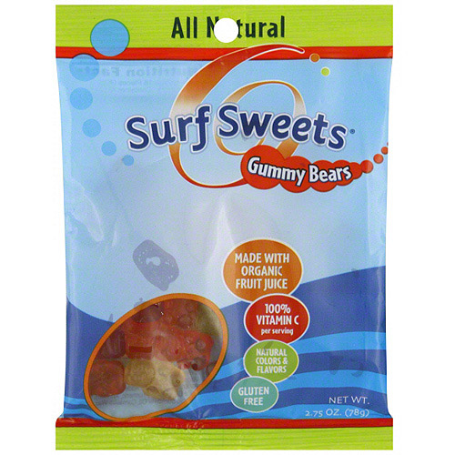 Surf Sweets Gummy Bears , 2.75 oz (Pack of 12)