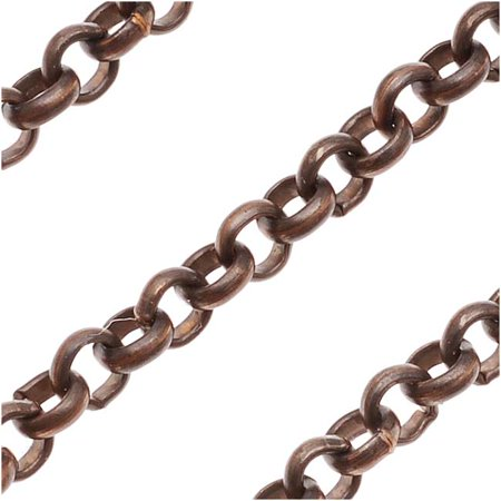 Vintaj Natural Brass 3.5mm Round Rolo Chain - Bulk By The -