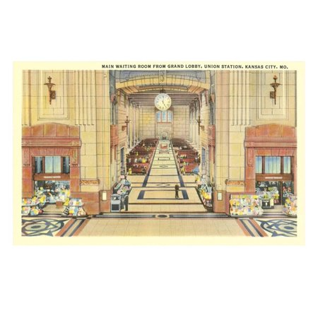 Waiting Room, Union Station, Kansas City, Missouri Print Wall Art - Party City Kansas City Missouri