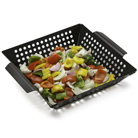 Cuisinart® Non-Stick Grill Wok - 11 Inch x 11 Inch, Grilling Basket, Perfect For Seafood and Vegetables