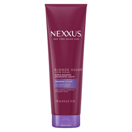 Nexxus Blonde Assure Shampoo for Color Treated or Natural Blondes 8.5 oz Blonde Color Enhancing Shampoo