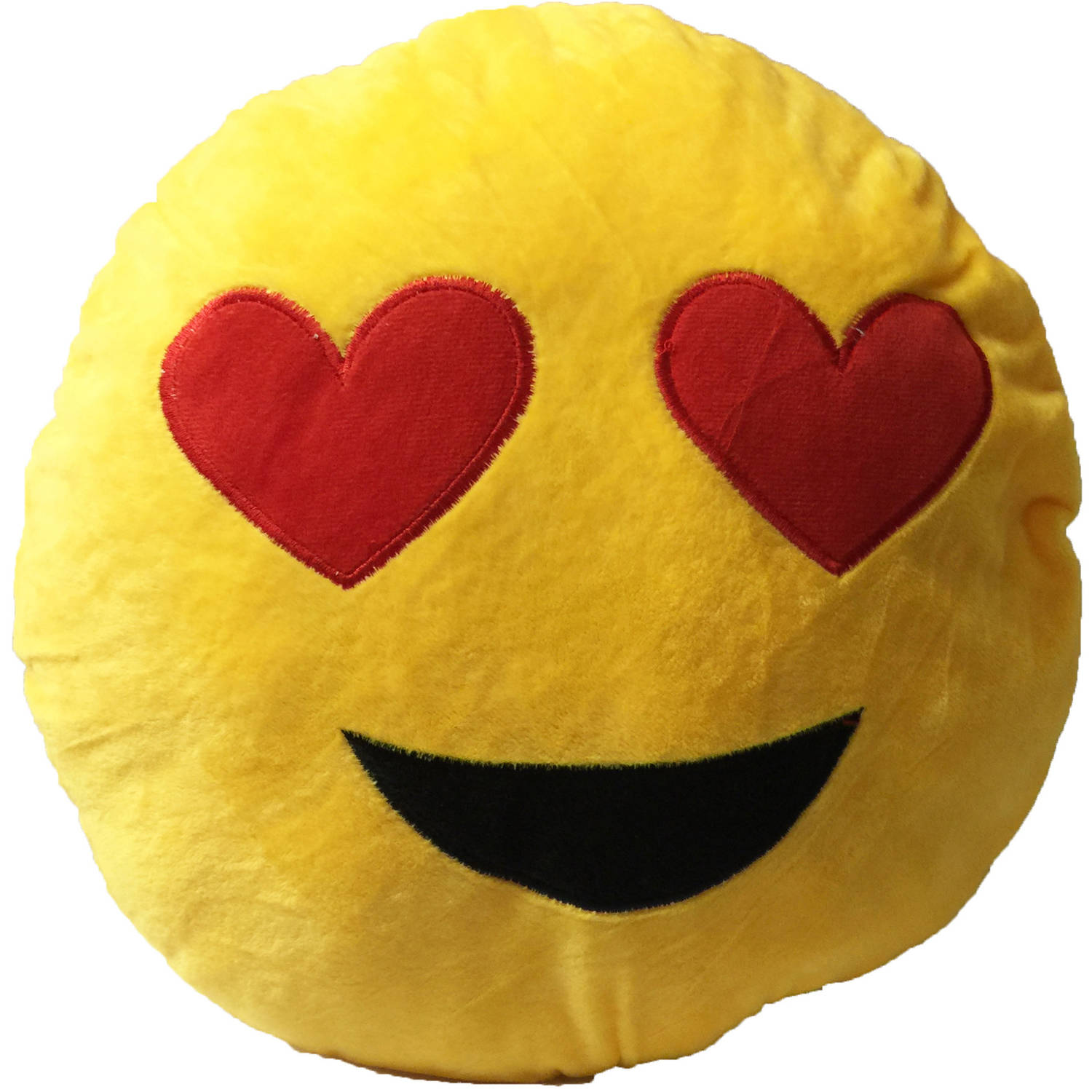 Smily Face with 2 Heart Eyes Emoji Cushion