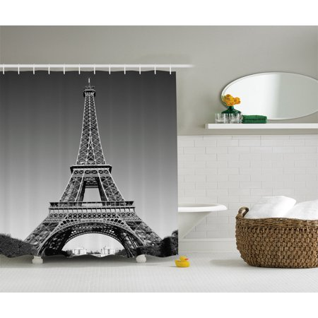 Eiffel tower decor paris landmark monochrome picture of for Eiffel tower bathroom accessories