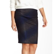 ASTR NEW Black Women's Size XS Striped Pull-On Straight Pencil Skirt