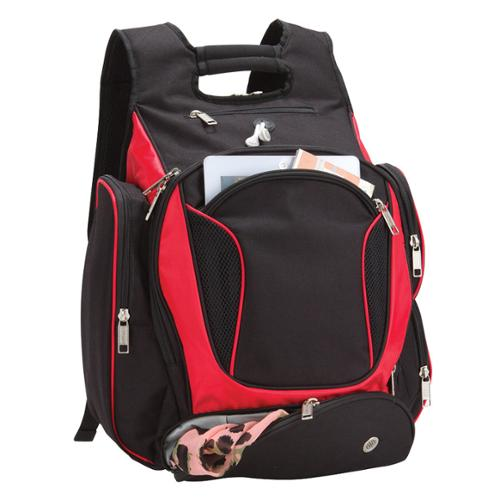Goodhope Evolution Checkpoint-friendly 17-inch Laptop and Tablet Backpack Red/ black