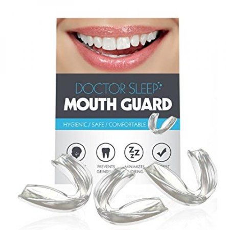DOCTOR SLEEP Dental Guard- Eliminate TMJ, Bruxism, Teeth Grinding & Clenching! Includes Three Custom Fit Professional Mouth (Best Night Guard For Clenching)