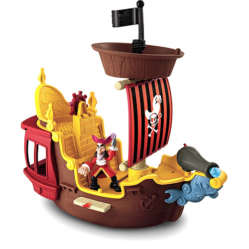 Fisher-Price Hook's Jolly Roger Pirate Ship Play Set