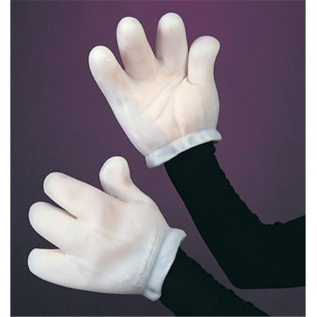 Vinyl Cartoon Gloves Adult Halloween Accessory - Mickey's Halloween Party Cartoon