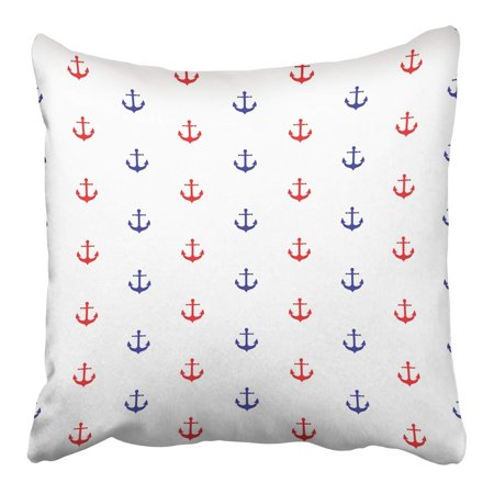 Baby Boy Room Colors (ARHOME Blue Room Colorful Anchor Pattern Red Toddler Abstract Baby Boy Child Color Pillowcase Cushion Cover 16x16)