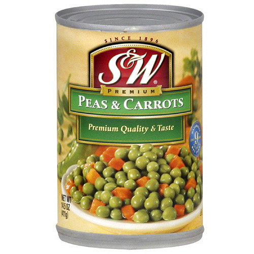 S&W Peas & Carrots, 14.5 oz (Pack of 12)