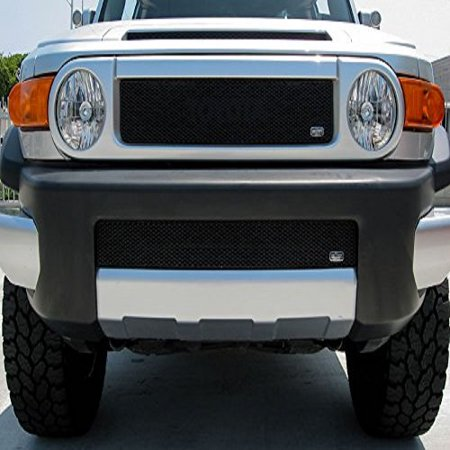 Grillcraft TOY1981B MX Series Black Lower 1pc Mesh Grill Grille Insert for Toyota FJ Cruiser - Fj Cruiser Grill