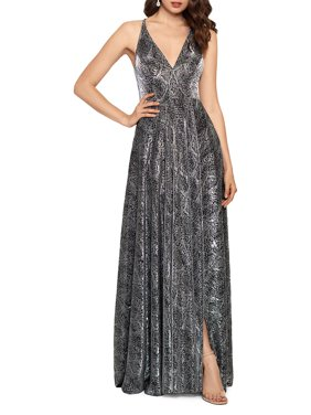 Sleeveless Snake-Printed Gown