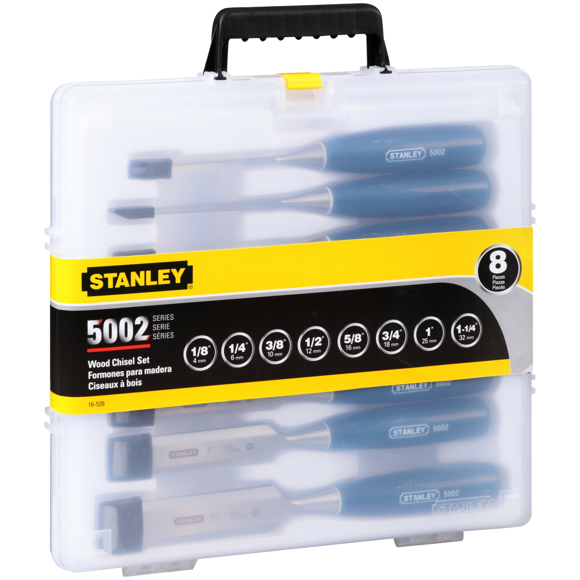 Stanley 5002 Series Wood Chisel Set 8 PC, 8.0 PIECE(S) by Stanley Black & Decker, Inc.