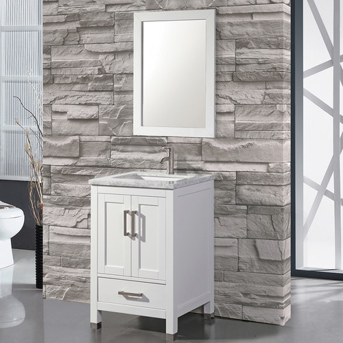 MTD Vanities Ricca 24'' Single Sink Bathroom Vanity Set with Mirror