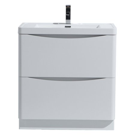 Morenobath smile 32 in free standing single sink bathroom - Walmart bathroom vanities with sink ...