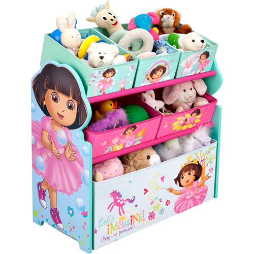 Nickelodeon Dora the Explorer Multi-Bin Toy Organizer, and room accessories