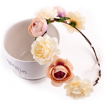 Ever Fairy Women Girl Flower Headband Wreath Crown Floral Wedding Garland Wedding Festivals Photo Photography