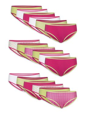 Gildan Girl's Cotton Bikini Underwear, 18 Pack Panties Sizes 4-16