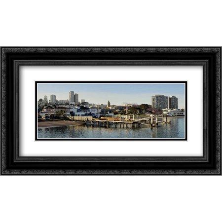 Aquatic Park Pano - 127 2x Matted 24x14 Black Ornate Framed Art Print by Blaustein,