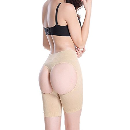 Sans couture extensible Women Fit Butt Lifter amincissante (XXL - 3XL Beige)