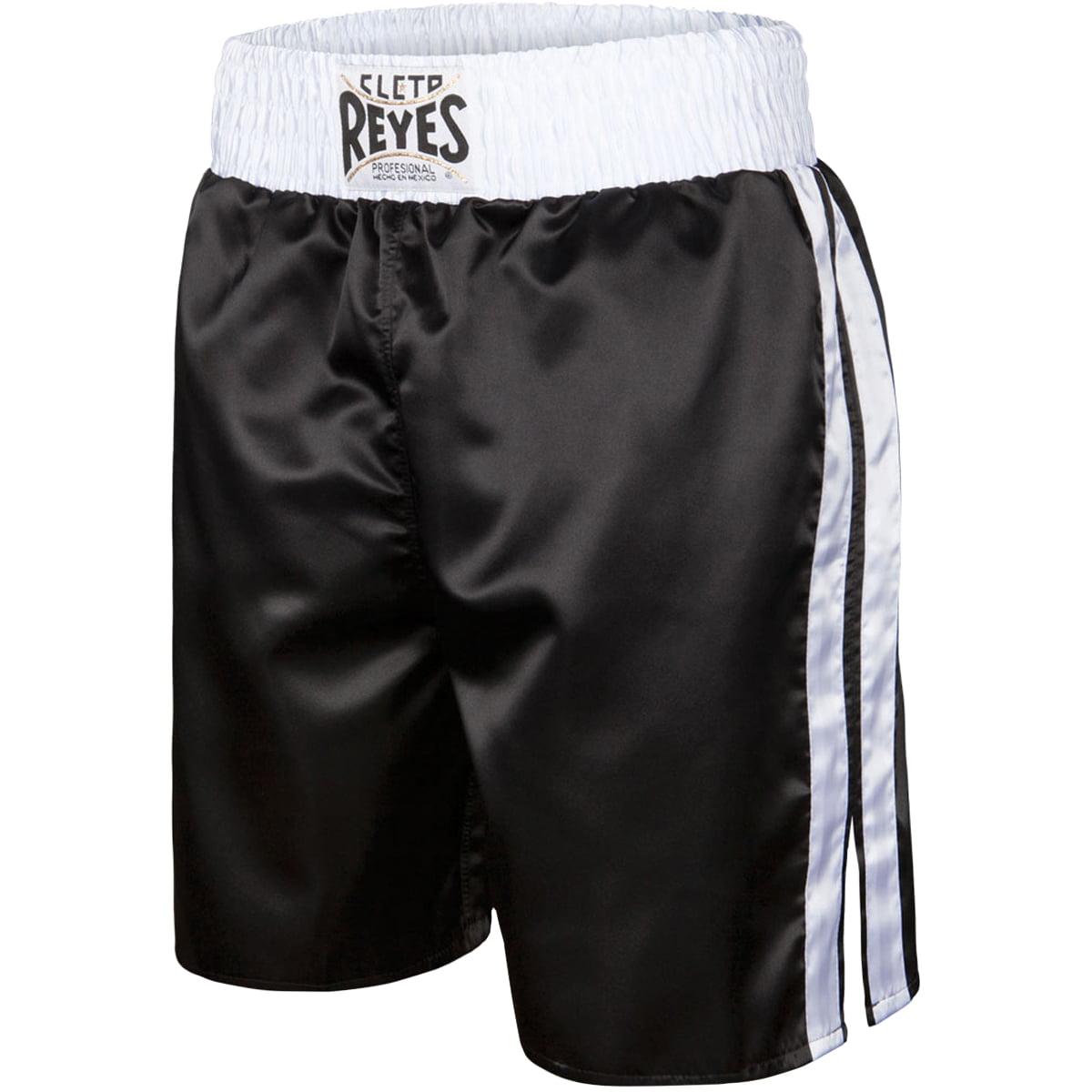 "Cleto Reyes Satin Classic Boxing Trunks - Medium (36"") - Black/White"