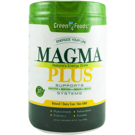 Green Foods Magma Plus - The Ultimate Superfood, Powder, 11 OZ Green Magma Japan