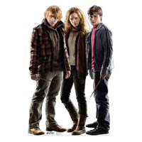 Harry, Hermione & Ron (Harry Potter 7) Cardboard Stand-Up, 5ft