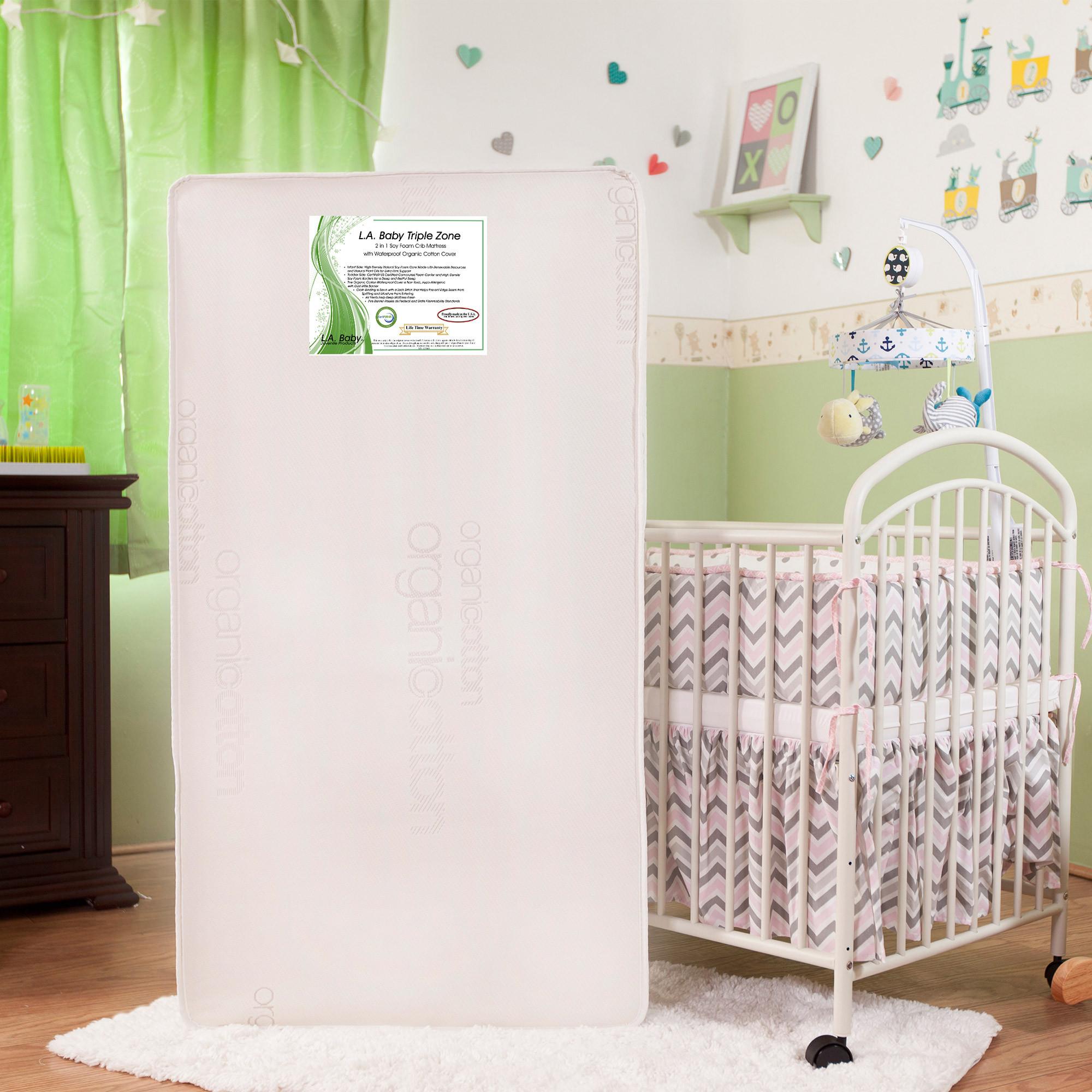 l.a. baby triple zone 2-in-1 soy foam crib mattress - walmart