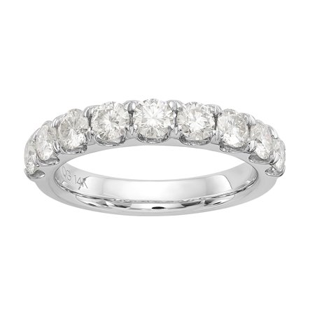 14kt 1.50 Carat 7 Stone Moissanite Band