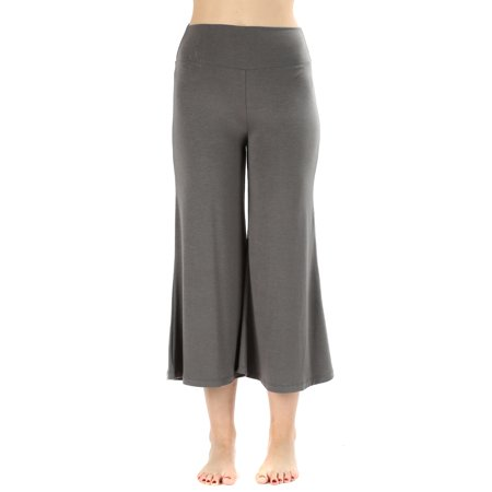 Dockers Capri Pants (Womens Knit Capri Culottes Gaucho Wide Leg Pants )
