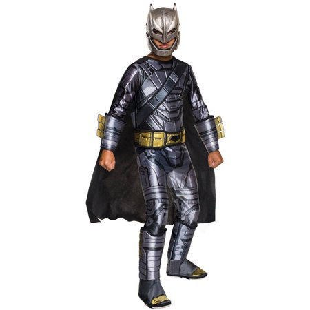 Batman Vs Superman: Dawn of Justice Deluxe Armored Batman Child Halloween Costume (Black Man White Woman Halloween Costumes)