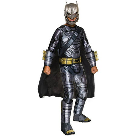 Batman Vs Superman: Dawn of Justice Deluxe Armored Batman Child Halloween Costume - Bald Man Halloween Ideas