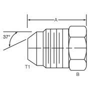 Dayco 143923 Male 37 Degree Flare - Jic Plug