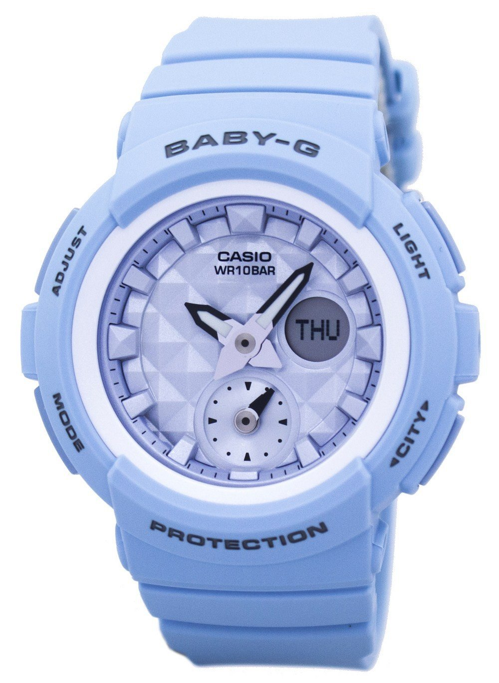 Casio Baby-G Shock Resistant World Time Analog Digital BGA-190BE-2A Womens Watch