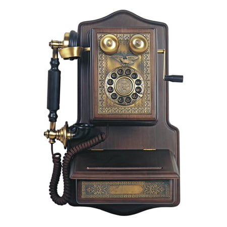 1907Aw Wooden Wall Phone