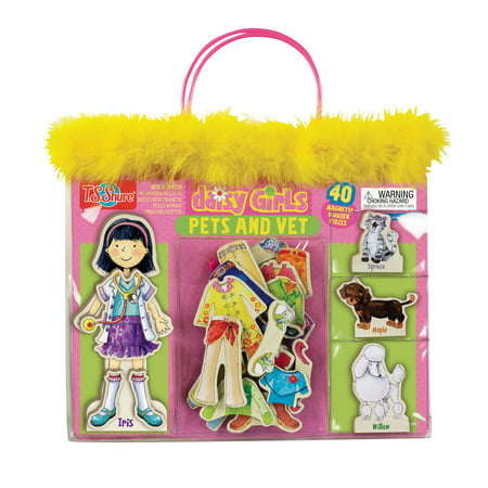 T.S. Shure - Daisy Girls Pets and Vet Wooden Magnetic Dress-Up Doll and Animals](Girls And Pets)