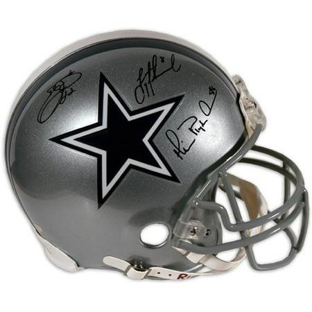 - Dallas Cowboys Aikman, Irvin, Smith Autographed Pro Helmet - Fanatics Authentic Certified