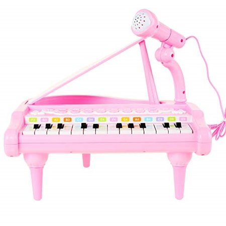 ConoMus Piano Keyboard Toy for Kids,1 2 3 4 5 Year Old Girls First Birthday Gift , 24 Keys Multifunctional Musical Electronic (Best Gifts For 12 Month Old Girl)