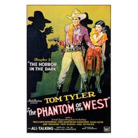 Phantom Of The West Movie Poster  11 X 17